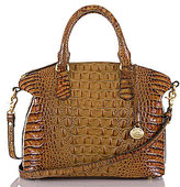 Brahmin Toasted Almond Collection Duxbury Croco-Embossed Dome Satchel