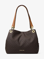 Michael Kors Raven Logo Shoulder Bag