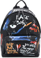 Chiara Ferragni backpack with paint effect graphics