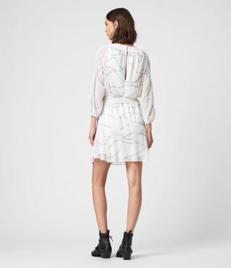 AllSaints Laci Embellished Dress