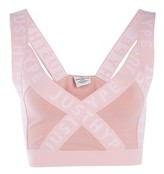 Hype **Dusty Pink Taping Strap Bralet
