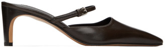 Jil Sander Brown Mary Jane Heels