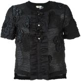 Fendi floral cloqué top - women - Silk/Cotton/Polyamide/Virgin Wool - 42
