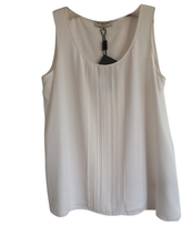 Burberry White Silk Top