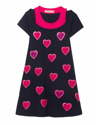 Desigual Girl's Knit Dress Short Sleeve (Vest_souix)