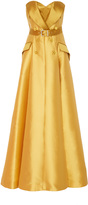 Alexis Mabille Strapless Belted Gown