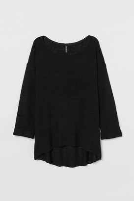 H&M Loose-knit Sweater - Black