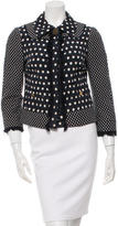Tory Burch Long Sleeve Polka Dot Jacket
