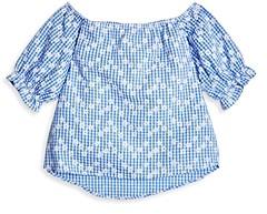 Aqua Girls' Daisy Printed Puff Sleeve Top, Big Kid - 100% Exclusive