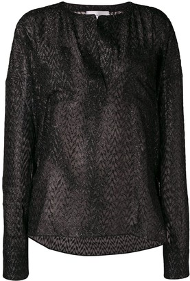 Faith Connexion embellished sheer blouse