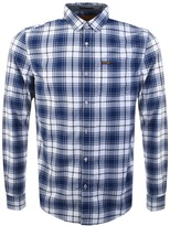 Superdry Raw Oxford Long Sleeve Check Shirt White
