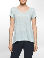 Calvin Klein Performance Cutout Back Short-Sleeve High Low T-Shirt