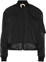 No.21 No. 21 Paneled shell bomber jacket