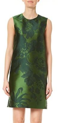 Carolina Herrera Sleeveless Floral Jacquard Shift Dress