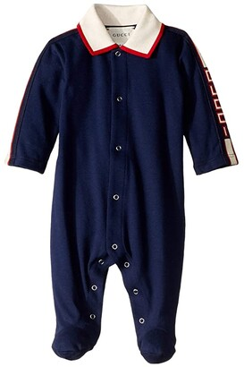 Gucci Kids Long Sleeve Suit 540777X9T64 (Infant) (Oltremare) Boy's Jumpsuit & Rompers One Piece