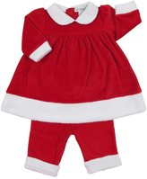 Kissy Kissy Yuletide Dress w/ Legging (Baby)-Red-0-3 Months