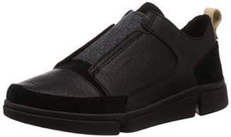 Clarks Men's Triverve Slip Low-Top Sneakers, (Black Leather