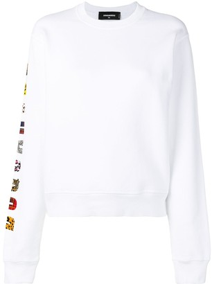 DSQUARED2 logo sleeve sweatshirt