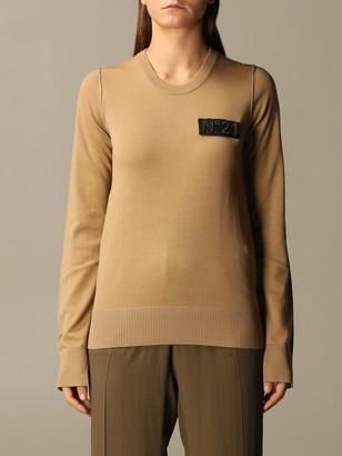 N°21 N deg; 21 Crewneck Sweater With Big Logo