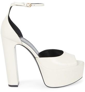 Saint Laurent Jodie Leather Platform Sandals