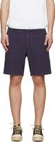 Visvim Blue & Red Linen Pastoral Shorts