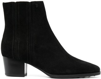 Tod's Cuban Heel Ankle Boots