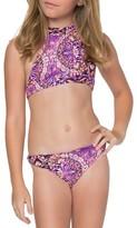 O'Neill Girl's Surf Bazaar Two-Piece Halter Swimsuit