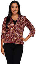Joan Rivers Classics Collection Joan Rivers Pretty in Paisley Jersey Knit Blazer w/ 3/4 Sleeves