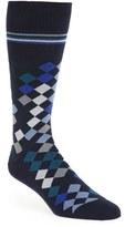 Paul Smith Men's 'Falling Diamond' Cotton Blend Socks