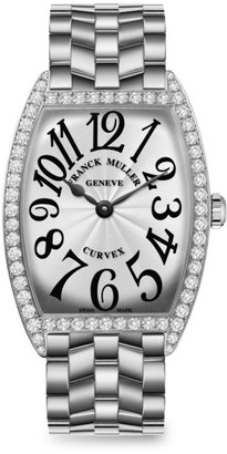 Franck Muller Cintree Curvex 43MM Stainless Steel & Diamond Bracelet Watch
