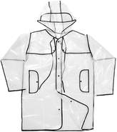 Generic Button Transparent Clear Rain Coat Festival Camping Raincoat for Women