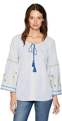 Ella Moon Women's Standard Embroidered TOP