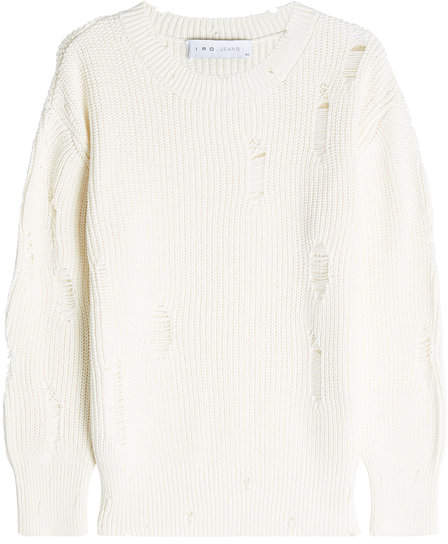 IRO Distressed Cotton Pullover