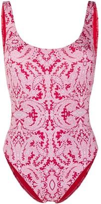 Etro Reversible Bandana-Print Swimsuit
