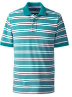 Classic Men's Tall Short Sleeve Stripe Mesh Polo Shirt-White Le Stripe