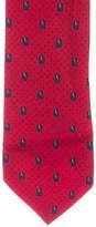 Balenciaga Printed Silk Skinny Tie
