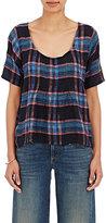 Ace&Jig Women's Shop Plaid Cotton T-Shirt-NAVY, PINK, LIGHT BLUE, NO COLOR