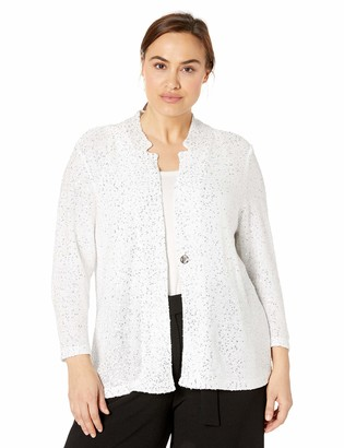 Nic+Zoe Women's Plus Size Sequin Moment Blazer