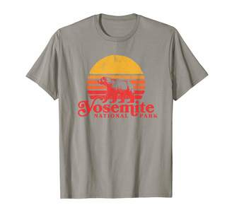 Retro Sun Yosemite National Park Vintage Bear and Graphic T-Shirt