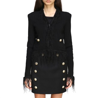 Balmain Jacket Short-sleeved Jacket With Fringes