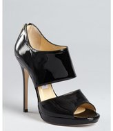 Jimmy Choo black patent leather 'Private' cutout sandals