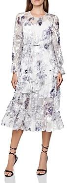 Reiss Annabell Silk Blend Floral Dress