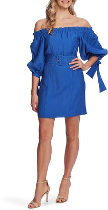 CeCe Off the Shoulder Balloon Sleeve Minidress