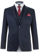 Burton Burton Lambretta Navy Slim Fit Suit Jacket*