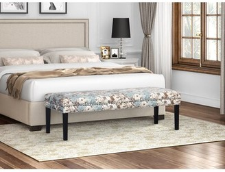 Charlton Home Bullock Floral Upholstered Bench