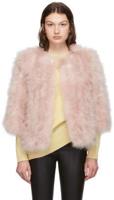 Yves Salomon Pink Feather Jacket