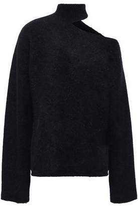 RtA Cutout Mohair And Wool-blend Turtleneck Sweater