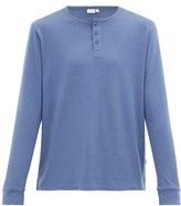 Onia - Miles Long Sleeved Cotton And Modal Henley Top - Mens - Blue