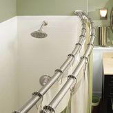Moen Adjustable Double Curved Brushed Nickel Shower Rod