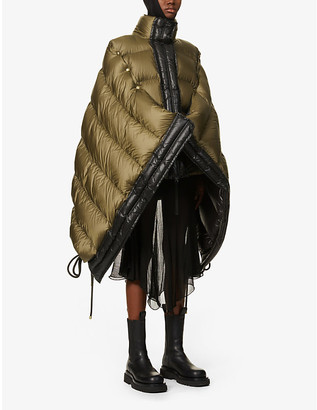 MONCLER GENIUS 1952 Elina asymmetric padded shell-down jacket